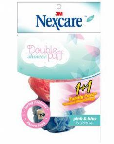 Nexcare Double Shower Puff