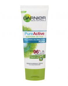 Garnier Pure Active Matcha De-Tox Pollution & Oil Deep Clean Foam