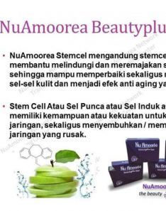 Amoorea 1 box nuamoorea with stemcell apel