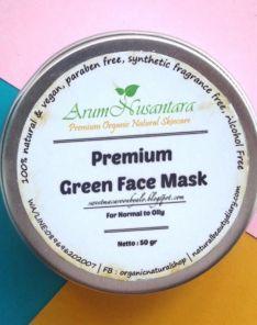 ArumNusantara Premium Green Face Mask