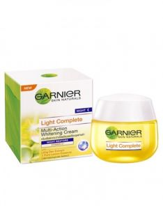 Garnier Light Complete White Speed Multi-Action Whitening Serum Cream Night Restore