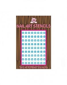 Piggy Paint Abstract Shapes Nail Stencils