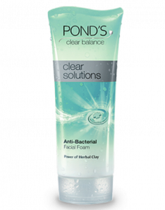 Pond's Clear Solutions Anti-Bacterial Facial Foam