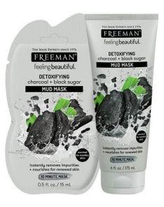 FREEMAN Detoxifying Charcoal + Black Sugar Mud Mask