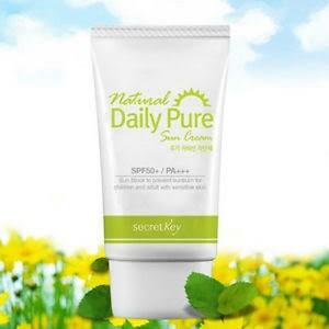natural daily pure sun cream