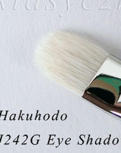 Hakuhodo J242G Eye Shadow Brush Round & Flat