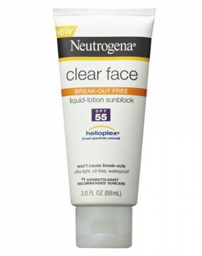 Neutrogena Clear Face Liquid Lotion Sunscreen Broad Spectrum