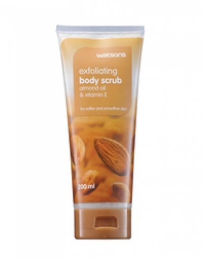 Watsons Almond and Shea Butter scented gel body scrub