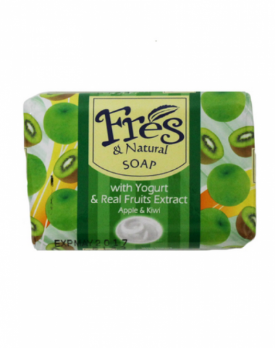 Fres and natural  Bar Soap With Real Yogurt and Fruit Extract