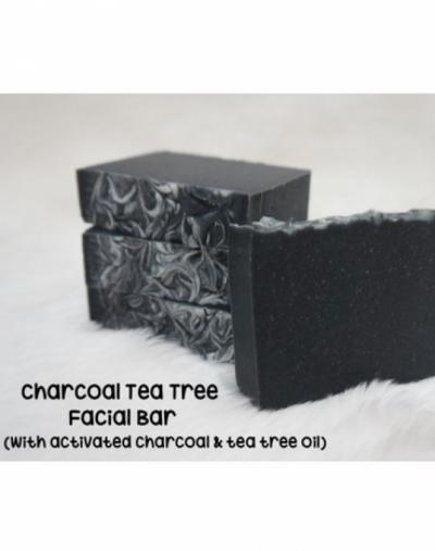 The Soap Corner Charcoal Tea Tree Facial Bar