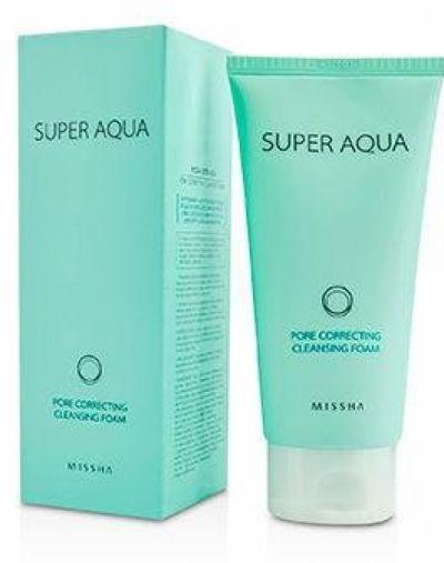 Missha Super Aqua Pore Correcting Cleansing Foam