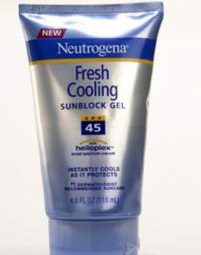 Neutrogena  Fresh Cooling Sunblock Gel SPF 45