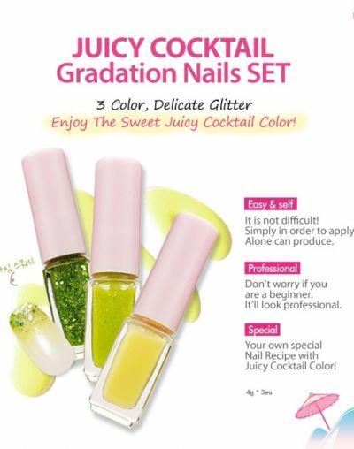 Etude House Juicy Cocktails Gradation Nails