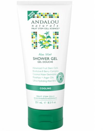 Andalou Naturals Aloe Mint Cooling Shower Gel