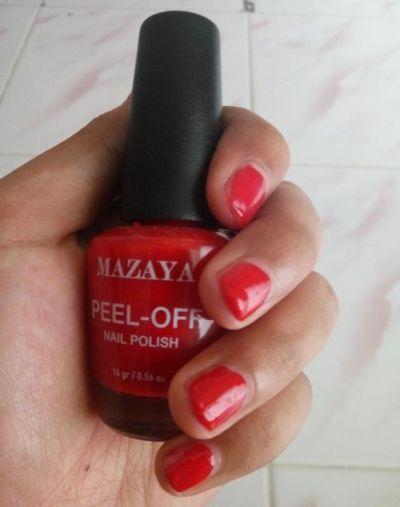 Mazaya Peel Off Nail Polish