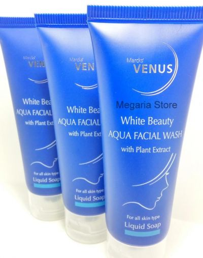 white beauty aqua facial wash with plant extract
