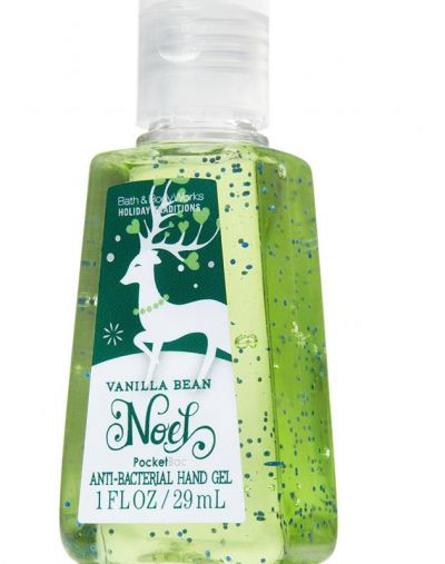 Bath and Body Works Vanilla Bean Noel Pocket Anti-Bacterial Hand Gel