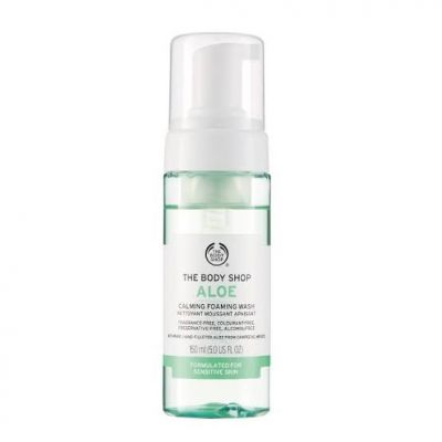 The Body Shop calming foaming wash