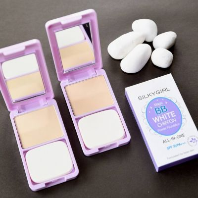 SilkyGirl Magic BB White Chiffon Powder Foundation