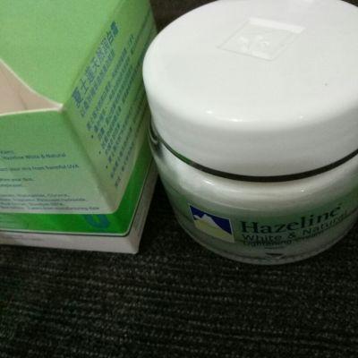 Hazeline hazeline  white&natural whitening cream