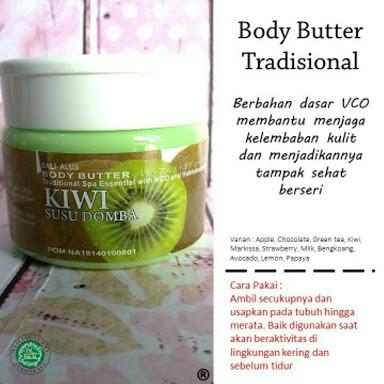 Body Butter Kiwi Susu Domba