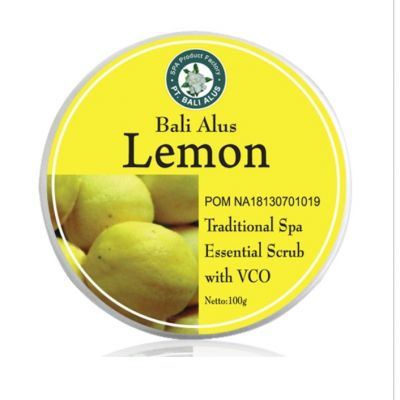 Bali Alus Lemon Essential Scrub with VCO