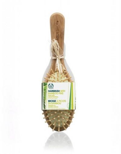 The Body Shop Bamboo Oval Cushioned Wooden Pin Brush