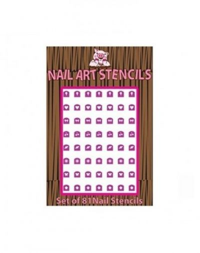Piggy Paint Combo Pack Nail Stencil