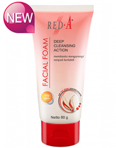Red-A deep action cleansing facial foam
