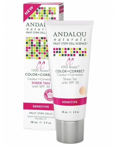 Andalou Naturals 1000 Roses Color & Correct Sheer Tan SPF 30