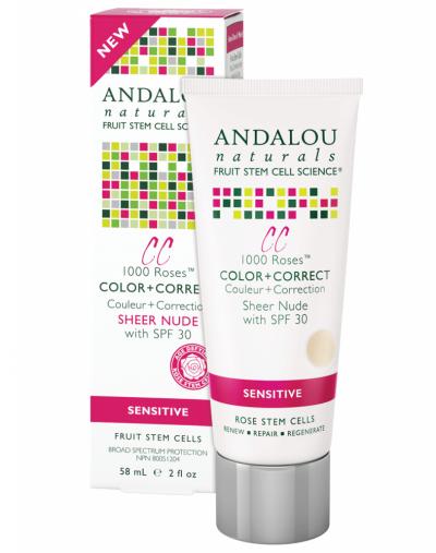 Andalou Naturals 1000 Roses Color & Correct Sheer Nude SPF 30