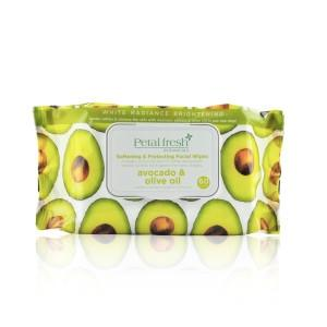 White Radiance Brightening Avocado Ultra Moisturizing Facial Cleansing Wipes