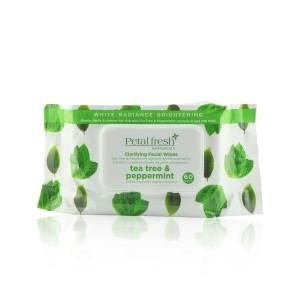 White Radiance Brightening Tea Tree & Peppermint Acne-Control Facial Cleansing Wipes