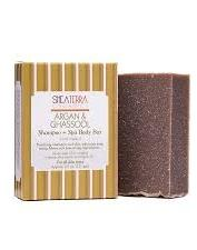 Shea Terra Organics Argan & Ghassool Shampoo + Spa Body Bar