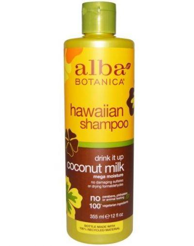 Alba Botanica Hawaiian Shampoo Drink It Up Coconut Milk