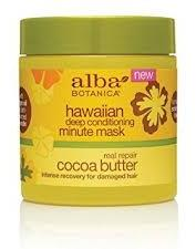 Alba Botanica Hawaiian Deep Conditioning Minute Mask Real Repair Cocoa Butter
