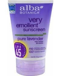 Alba Botanica Very Emollient Sunscreen Pure Lavender Lotion SPF 45