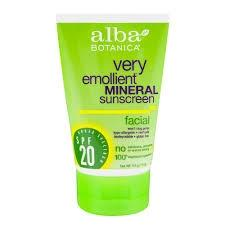 Alba Botanica Very Emollient Mineral Sunscreen Facial Lotion SPF 20