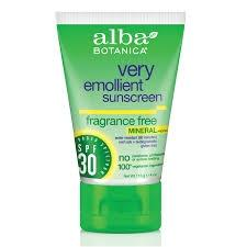 Alba Botanica Very Emollient Mineral Sunscreen Fragrance Free Lotion SPF 30