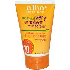 Alba Botanica Very Emollient Sunscreen Fragrance Free Lotion SPF 30