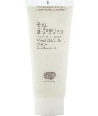 Whamisa Organic Flower Ferment Foam Cleansing Cream