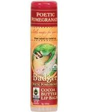 Badger Poetic Pomegranate Cocoa Butter Lip Balm