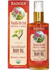 Badger Vanilla Orchid Body Oil