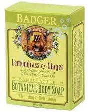 Badger Lemongrass & Ginger Soap