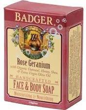 Badger Rose Geranium Soap
