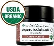 Herbal Choice Mari Organic Facial Scrub Intense Exfoliation
