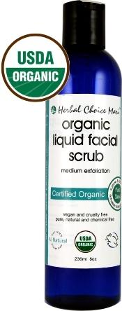 Herbal Choice Mari Organic Liquid Facial Scrub Medium Exfoliate