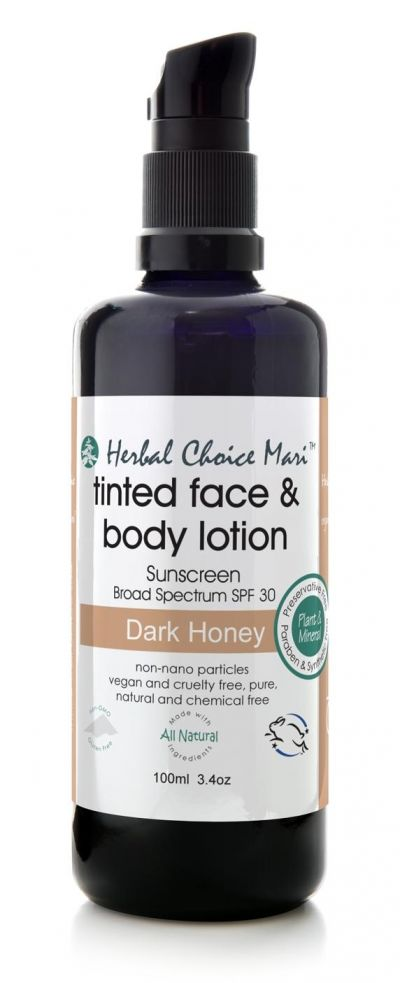 Herbal Choice Mari Tinted Face & Body Lotion SPF-30 Dark Honey