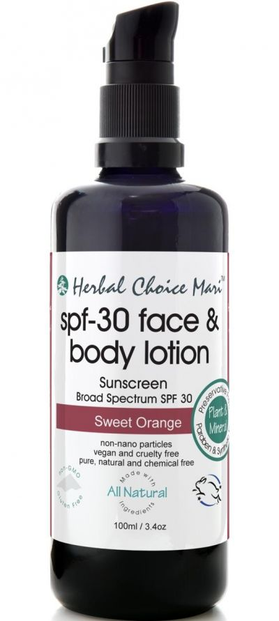 Herbal Choice Mari SPF-30 Face & Body Lotion Sweet Orange