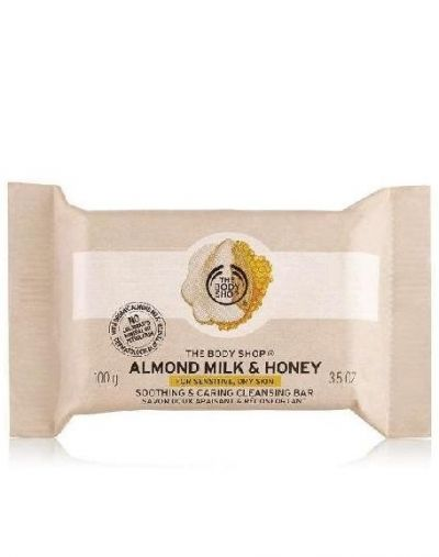 The Body Shop Almond Milk & Honey Soothing & Caring Cleansing Bar